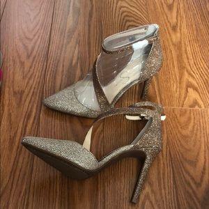 Shimmery heels